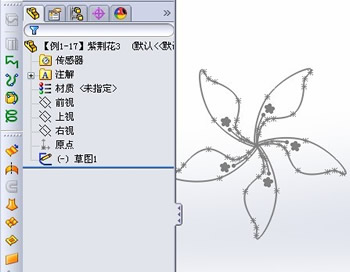 solidworks 紫荆花实例