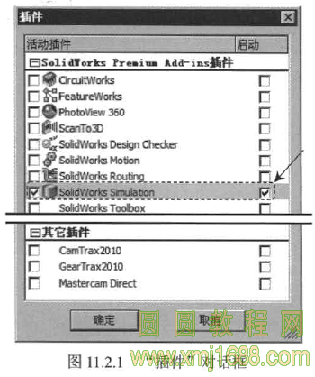 Solidworks2015高级应用教程 11.2 Solid Works Simulation插件